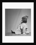 Domestic cat dressed up as little girl by Corbis