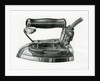 Vintage engraving of an early electric iron by Corbis