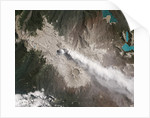 Satellite view of Chile's Puyehue Cordón Caulle Volcano by Corbis