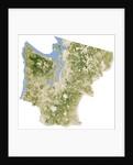 Satellite biomass map of western Washington State by Corbis