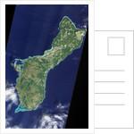 Satellite view of Guam by Corbis
