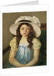 Francoise Wearing a Big White Hat by Mary Cassatt