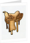 1960s illustration of a Western horse saddle. by Corbis