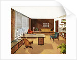 1950s View of a 'Modern' Executive Business Office. by Corbis