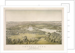 Lithograph of Central Park by Corbis