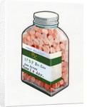 1960s Illustration of a Bottle of Prescription Pills. by Corbis