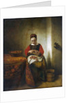 Young Woman Peeling Apples by Nicolaes Maes
