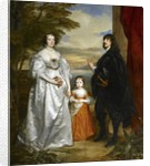 James, Seventh Earl of Derby, His Lady and Child by Anthony van Dyck