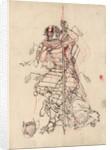 A samurai drinking sake by Corbis