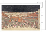 Perspective picture of famous places of Japan: Nakanocho in Shin-Yoshiwara by Corbis