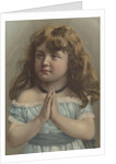 Girl with hands clasped together by Corbis