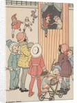 Group of children watching puppet show by Corbis