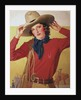 Cowgirl with rope on shoulder by Corbis