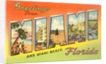 Greetings from Miami and Miami Beach, Florida by Corbis