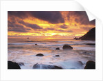 sunset along Indian Beach, Oregon Coast. Pacific Ocean. Pacific Northwest, United States by Corbis