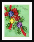 Vintage Illustration of Jingle Bells and Holly by Corbis
