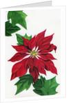 Vintage Illustration of Christmas Poinsettia by Corbis