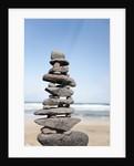 Stack of rocks at Canteria beach, near Orzola, Lanzarote, Spain by Corbis