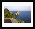 View of Faraglioni from Belvedere di Tragara, Capri, Italy by Corbis