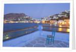 Town at dusk, Agia Marina, Leros, Greece by Corbis