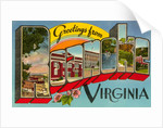 Greetings from Roanoke, Virginia by Corbis