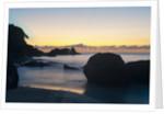 View of Takamaka Beach at dusk, Seychelles, Mahe by Corbis