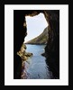 Rock cave and cliff, Xlendi, Gozo, Malta by Corbis