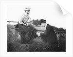 Young man and woman together, ca. 1907 by Corbis