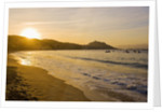 Beach, bay and Cape of Campomoro at sunset, Corsia, France by Corbis