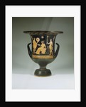 Apulian red figure calyx krater with a scene from Euripides' play by Corbis