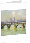 Waterloo Bridge and Hungerford Bridge with the Houses of Parliament Beyond by Emile Claus