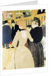 At the Moulin Rouge (La Gouloue and her Sister) by Henri de Toulouse-Lautrec