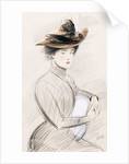 An Elegant Lady by Paul Cesar Helleu