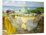 Two Young Women on a Terrace by the Sea by Henri Lebasque