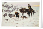 The Frozen Sheepherder by Frederic Remington