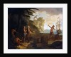 America: A European Merchant Negotiating with Native Americans by Jean-Baptiste Oudry