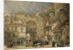 The Gate of the Viva Rambla, Granada by David Roberts