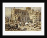 At Gervaise, Falaise: Market Day by Myles Birket Foster