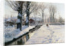 A Wooded Winter Landscape, Brondbyvester by Peder Monsted