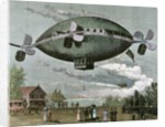 """Aerostat. Engraving in """"The Illustration"""", 1887 by Corbis"""