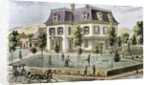 Residential home with the family playing cricket by Corbis