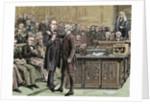 Brandlaugh, Charles (1833-1891). English politician. Brandlaugh deputy arrested for refusing to leav by Corbis