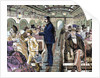 Old railroad car. Inside view with passengers. United States by Corbis