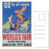 Go By All Means 1964 New York City Worlds Fair Poster by Corbis