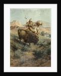Indian and Buffalo by Edgar Samuel Paxson