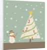A snowman next to a Christmas tree by Corbis