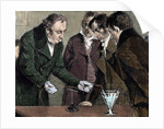 Oersted, Hans Christian (1777-1851). Danish physicist and chemist. Oersted discovers electromagnet by Corbis
