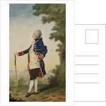 The Baron de Bombelles in the Tuileries by Louis de Carmontelle