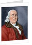 Franklin, Benjamin (1706-1790). American statesman and scientist by Corbis