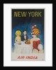 Air India Travel poster, New York Playboy Bunny by Corbis